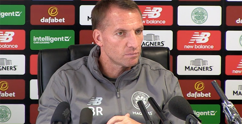 Rodgers Warns Celtic Fans